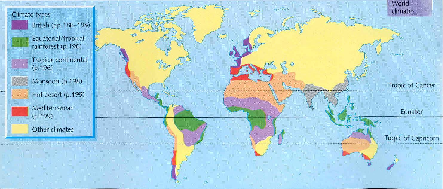 Climate Zones Map of The World 3 Climate Zones of The World